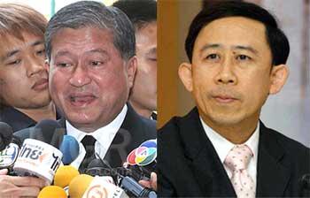 (L) Chalerm Yoobumroong, (R) Mingkwan Sangsuwan