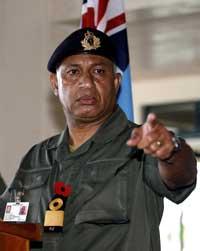 Fiji's interim PM, Commodore Frank Bainimarama. [AFP]