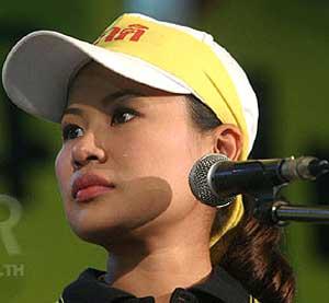 Sarosha Pornudomsak, a Thai Journalist for Manager Media Group and democracy activist