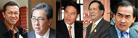 Newin Chidchob,Somkid Jatusripitak,Varathep Ratanakorn,Adisai Potharamik, Soraut Klinprathum